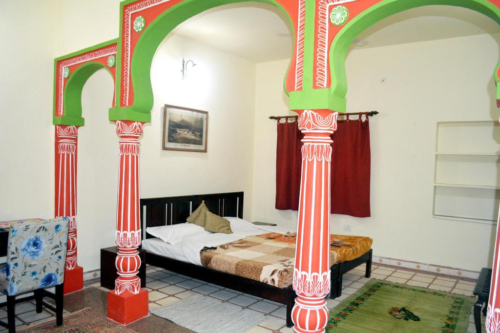 Hotellet indefra Haveli Kalwara