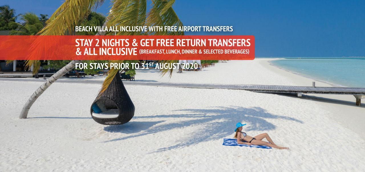 Beach Villa All Inclusive with Free Airport Transfers