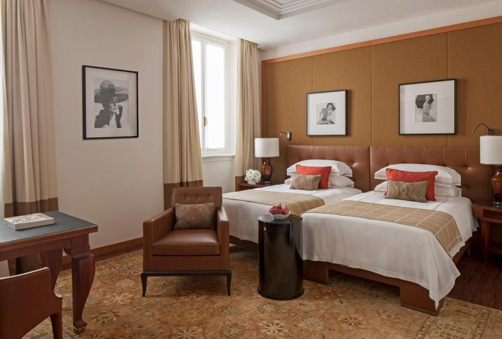 Deluxe Room Two European Single beds Four Seasons Hotel Milano