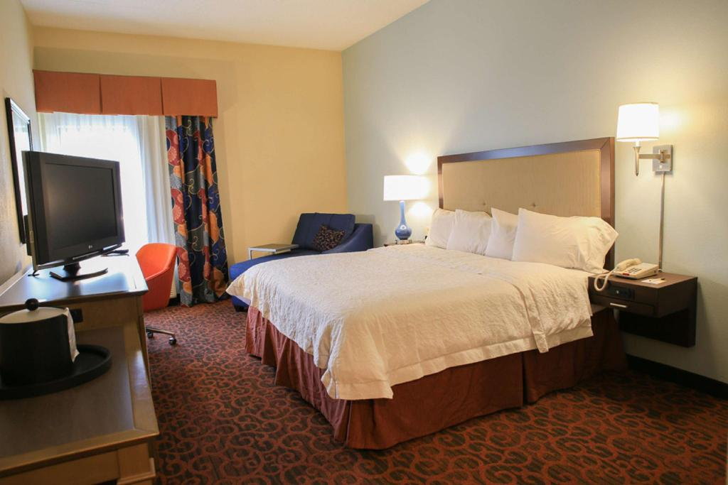 1 King Bed Non-Smoking - Guestroom Hampton Inn Bordentown Hotel