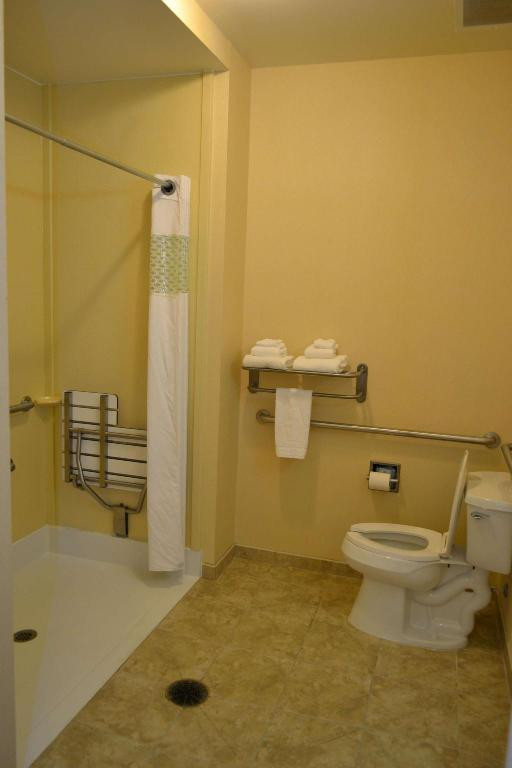 1 King Mobility Hearing Accessible Roll In Shower Non-Smoking - Guestroom Hampton Inn & Suites Dayton-Airport