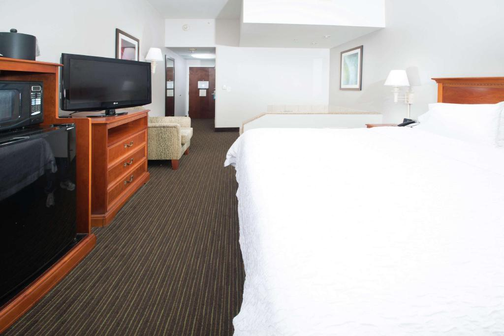 1 King Bed with Whirlpool Non-Smoking Hampton Inn Linden Hotel