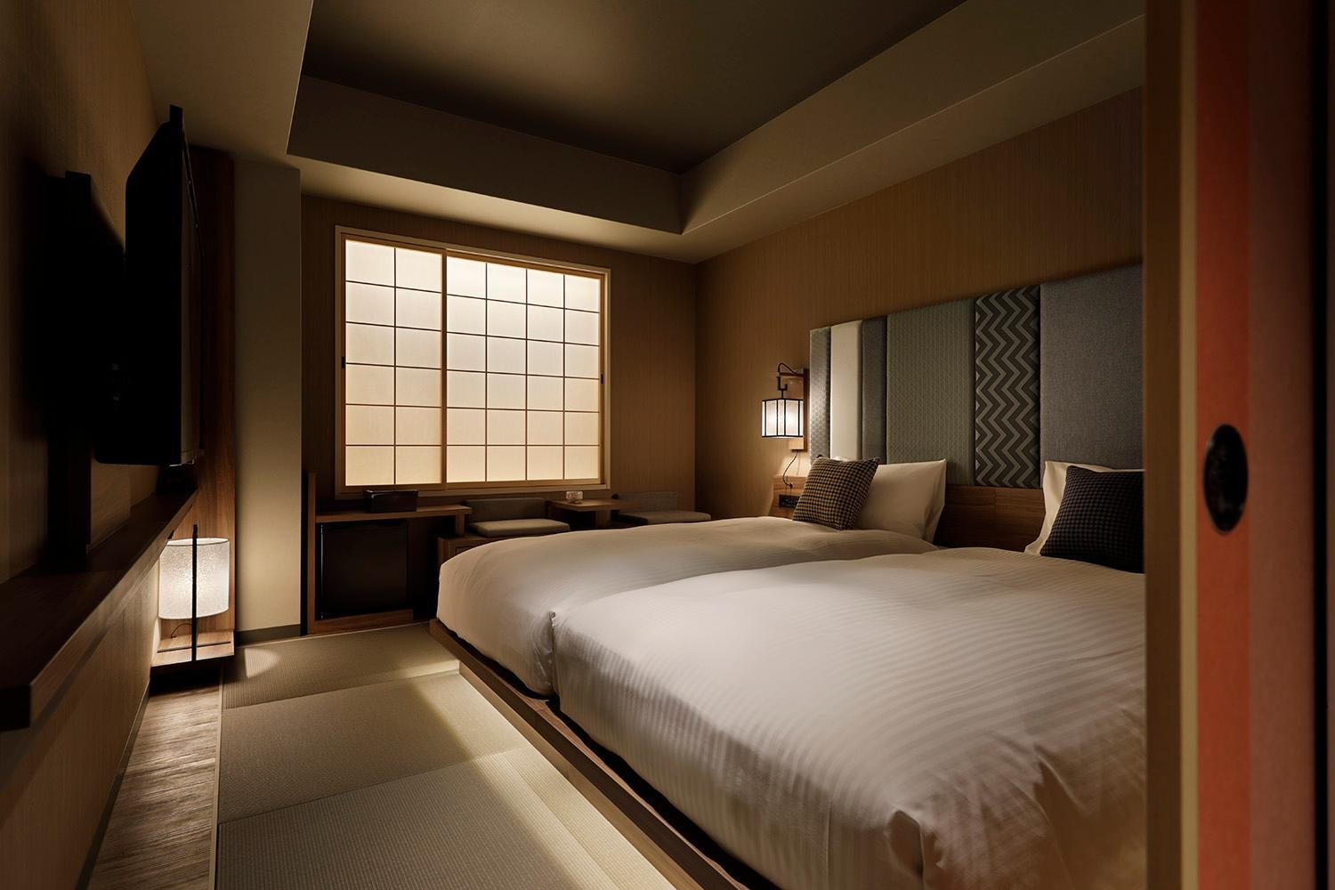 日式現代客房(兩床) - 禁菸 (Japanese Modern Room with Twin Bed - Non-Smoking)