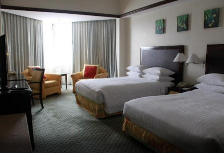 Deluxe Main Room, Guest room, 2 Double - Room plan Miri Marriott Resort & Spa