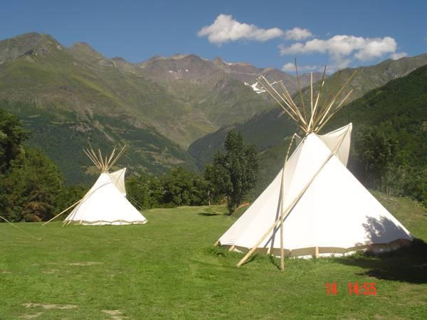 Tipi and House