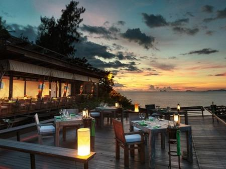 Hotelli interjöör Six Senses Samui
