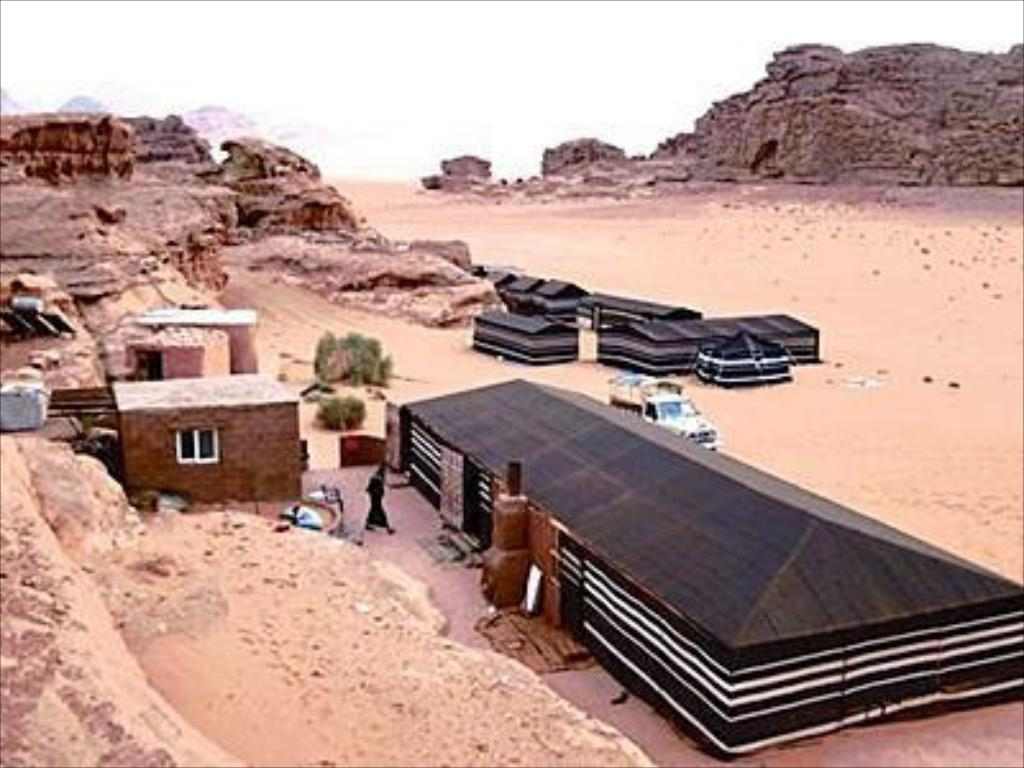Triple Tent - Aerial view Bedouin Meditation Camp