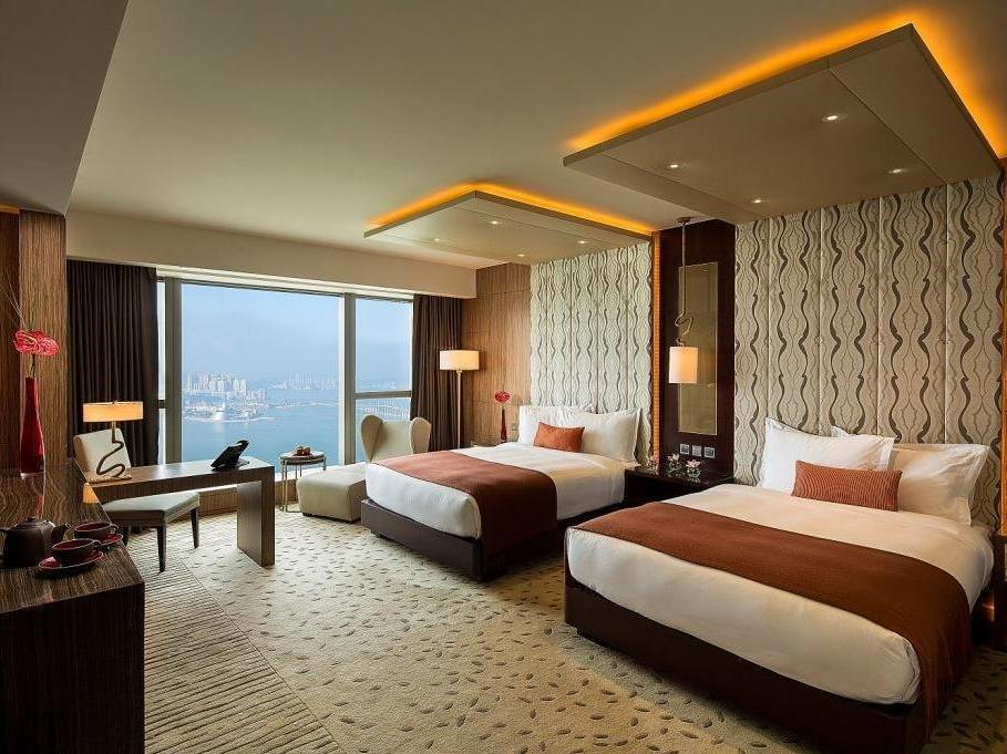 新濠鋒澳門海景客房(兩床) (Altira Waterfront View Room with Twin Bed)