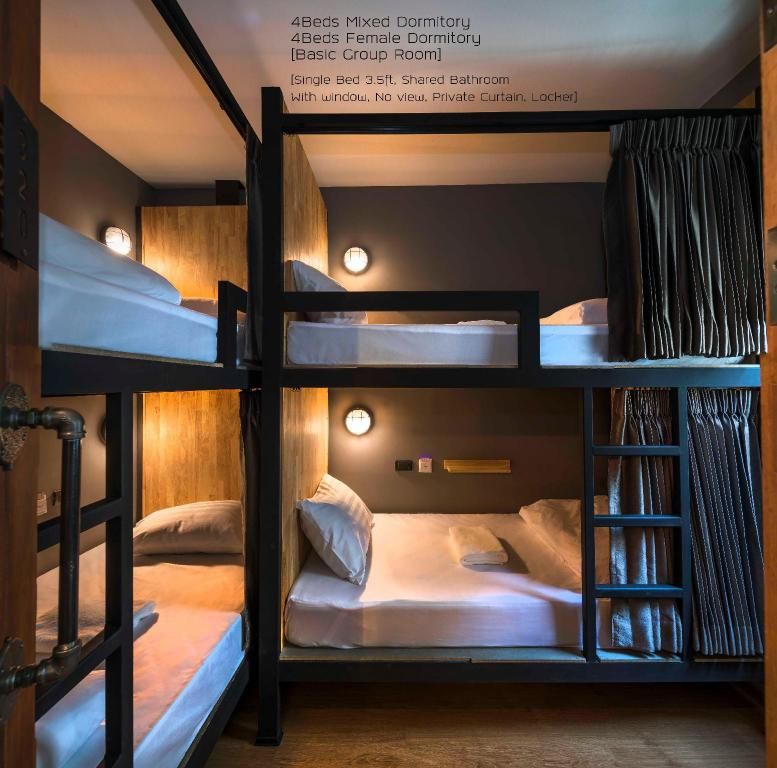 1 Person in 4-Bed Dormitory - Mixed - Bed Timber hostel