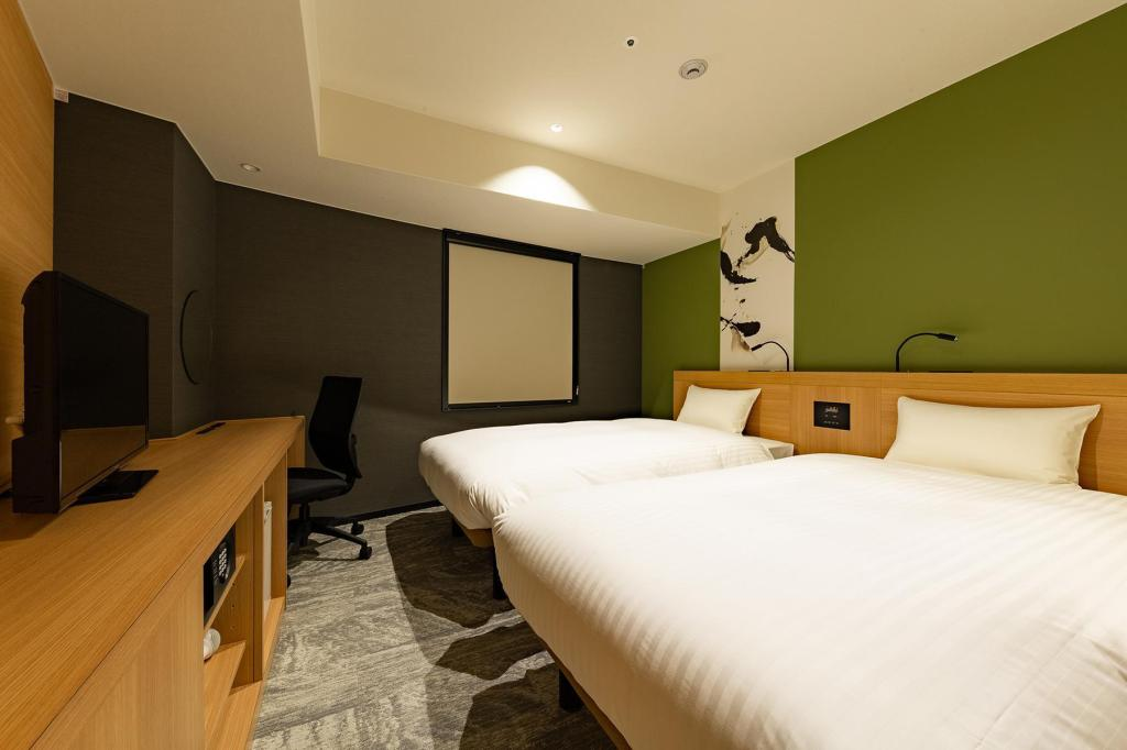 Twin Room - Non-Smoking - Room plan The OneFive Kyoto Shijo