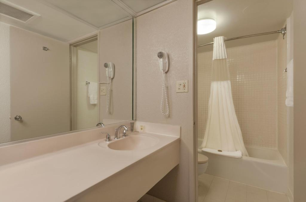 Standard 1 King Bed Non-Smoking Exterior Corridor Room - Bathroom Ramada by Wyndham Kissimmee Gateway