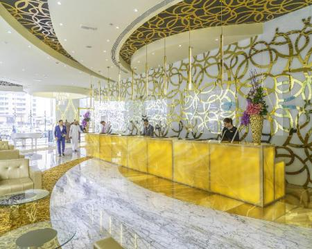 Lobby Gevora Hotel - The Tallest Hotel in the World
