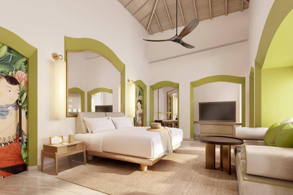 Beach Villa, 1 Bedroom Villa, 1 King, Sofa bed, Beach front - Bed Phulay Bay, a Ritz-Carlton Reserve