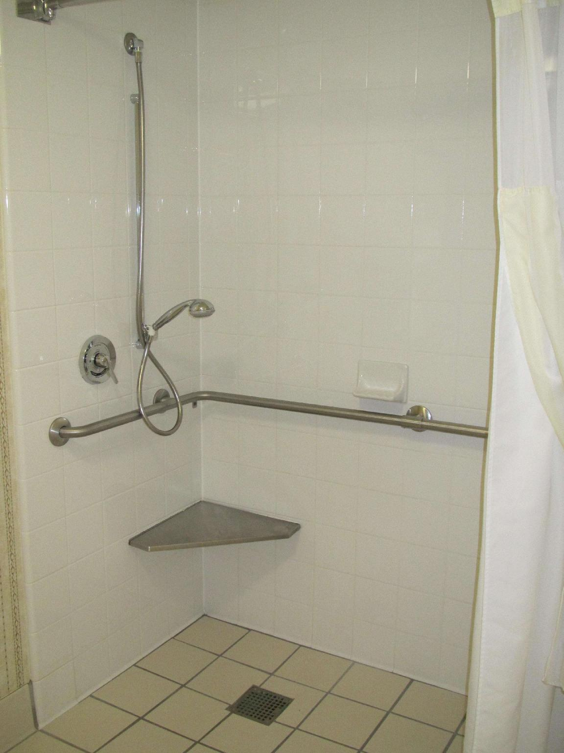 1 King Accessible Roll In Shower