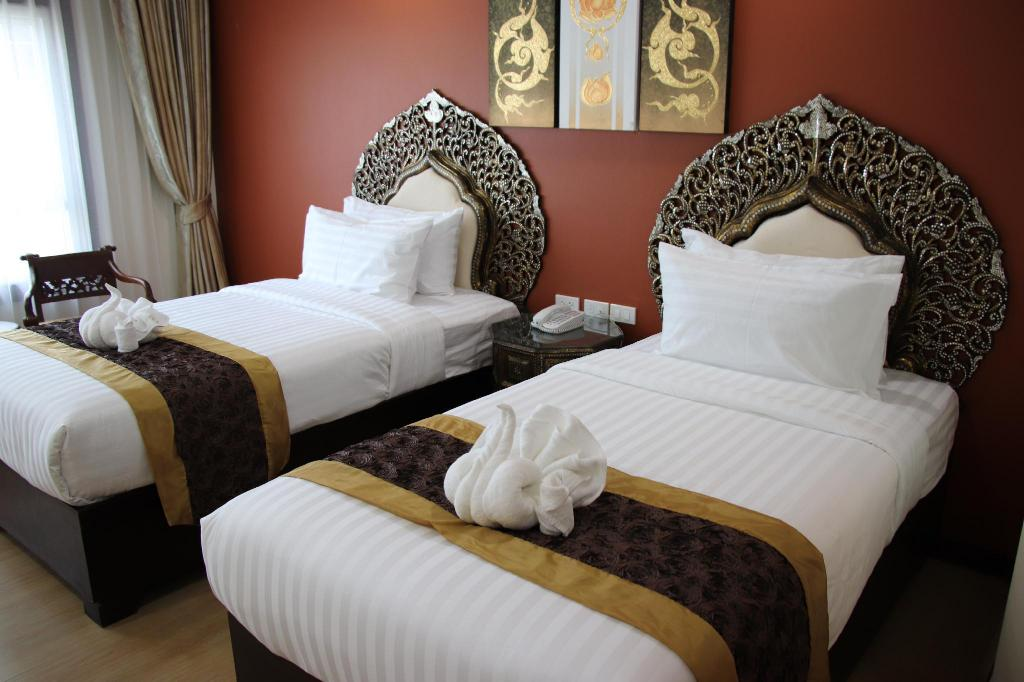 Deluxe Twin Room - Bed White Boutique Hotel and Spa