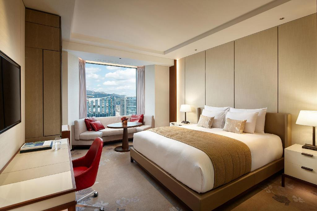 Grand Deluxe Double Room - Room plan Lotte Hotel Seoul Executive Tower