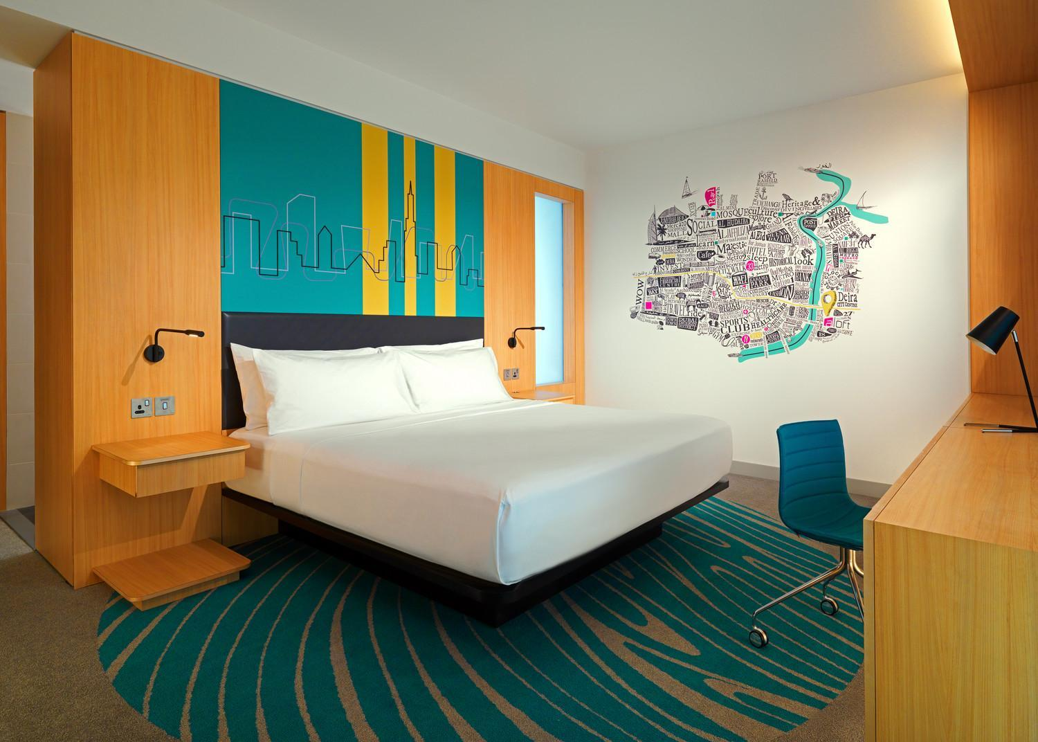 Aloft Room, Guest room, King, City view