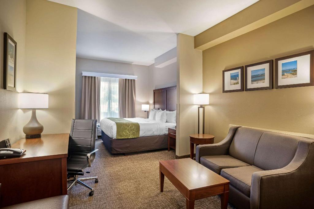 1 King Bed Business Room Suite Nonsmoking - Guestroom Comfort Suites Foley - North Gulf Shores