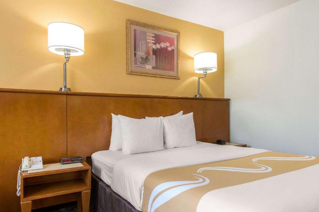 Standard Accessible Queen Bed - Guestroom Quality Inn & Suites Near the Theme Parks