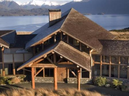 Hotellet indefra Fiordland Lodge
