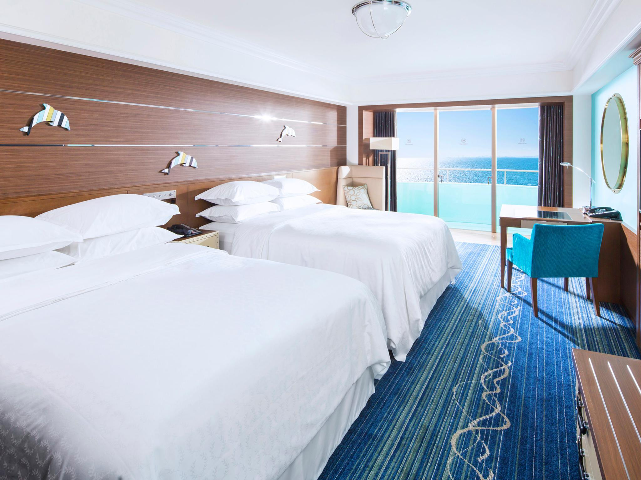 海洋夢幻客房(兩床/本館) (Ocean Dream 2 Beds, Guest room, 2 Double, Main building)