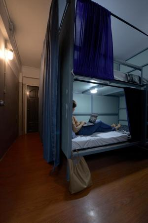 1 Person in 8-Bed Dormitory - Mixed - Room plan SoundSleep Hostel
