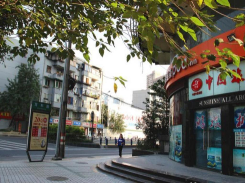 Экстерьер Chengdu Pod Inn Kuanzhai Alley North City Plaza Branch