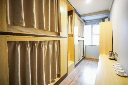 1 Person in 4-Bed Dormitory with Private Bathroom - Female Only - Bedroom Xian Alley Youth Hostel