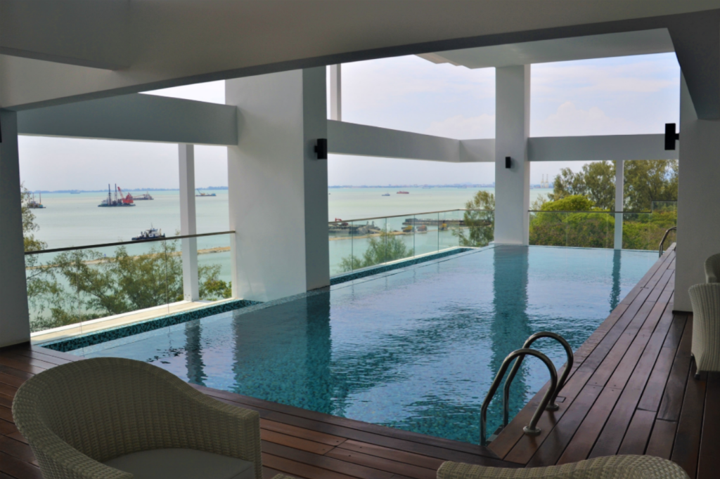 Swimming pool Seaview Duplex Condo, 3BR@Georgetown, Penang, PM