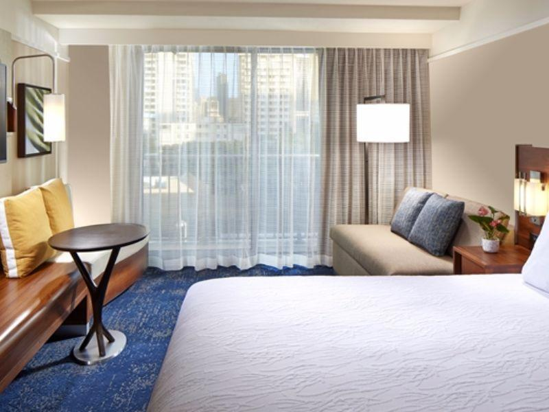 2 Doubles Suite Hearing Accessible with Partial Ocean View