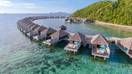 Water Villa (with Land and Boat Transfers) - Balcony/terrace Huma Island Resort and Spa