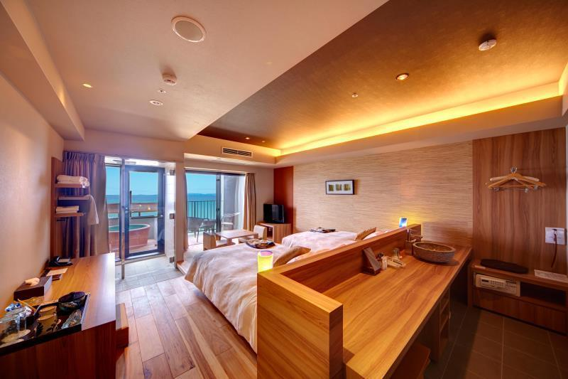 按司海景房(兩床) - 有露天浴池/禁菸 (Anji Ocean View Twin Room with Open-Air Bath - Non-Smoking)