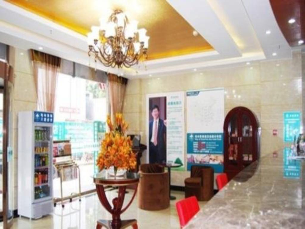 Lobi Green Tree Inn Zibo Liuquan Road Wal-mart Square Express Hotel