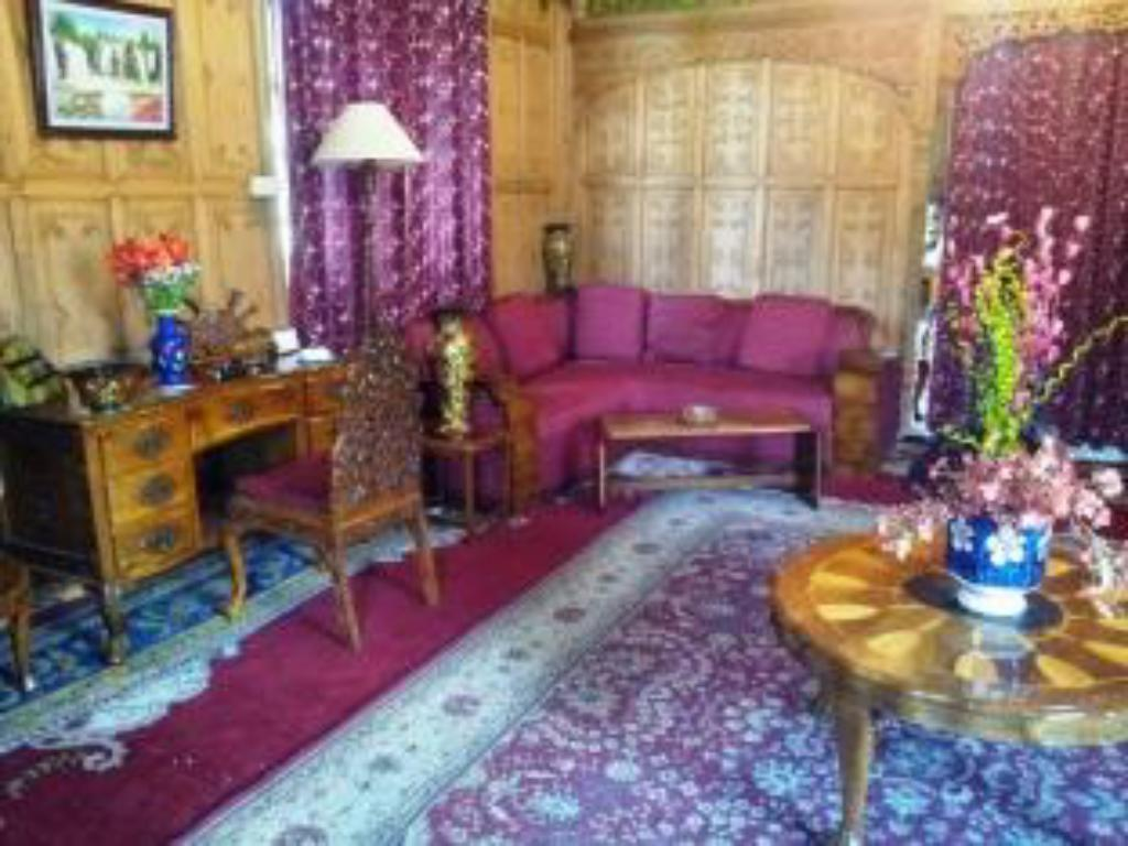 Interior view Prince of Kashmir Group of Houseboats