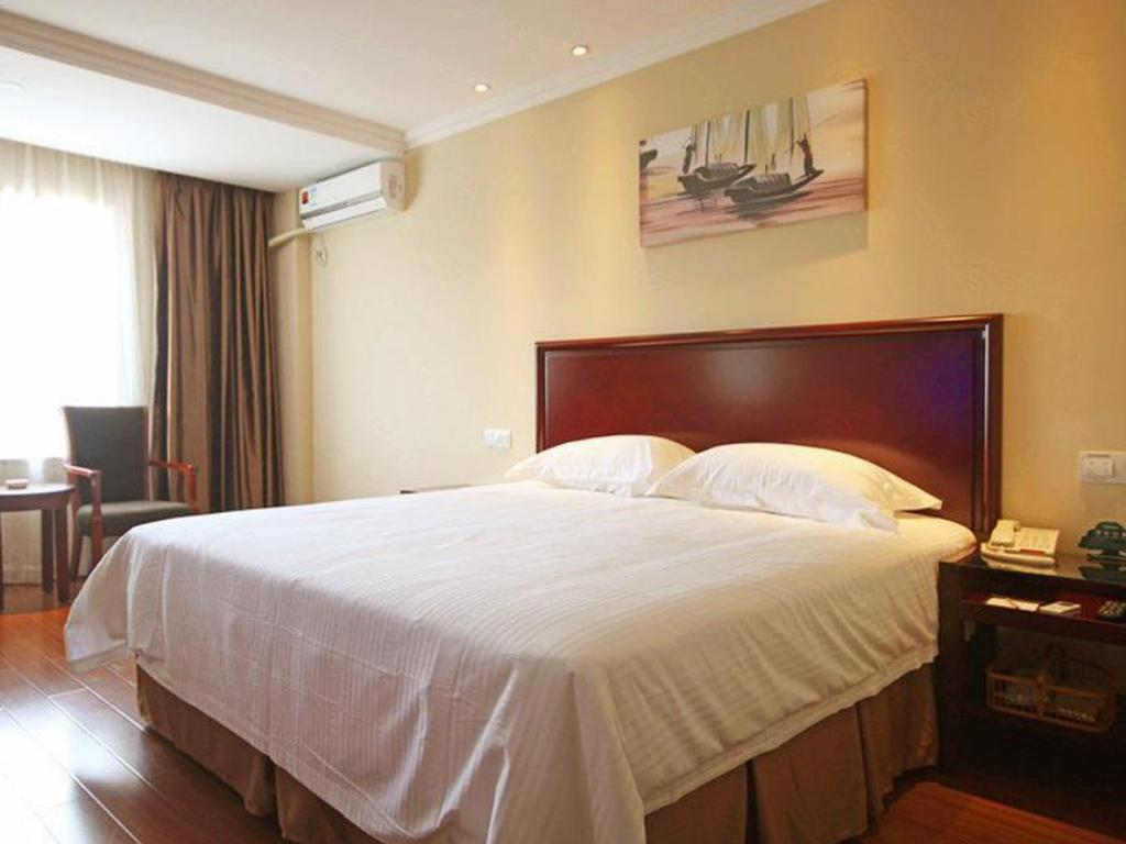 King Room - Bed Green Tree Inn Ningbo Train East Station Business Hotel