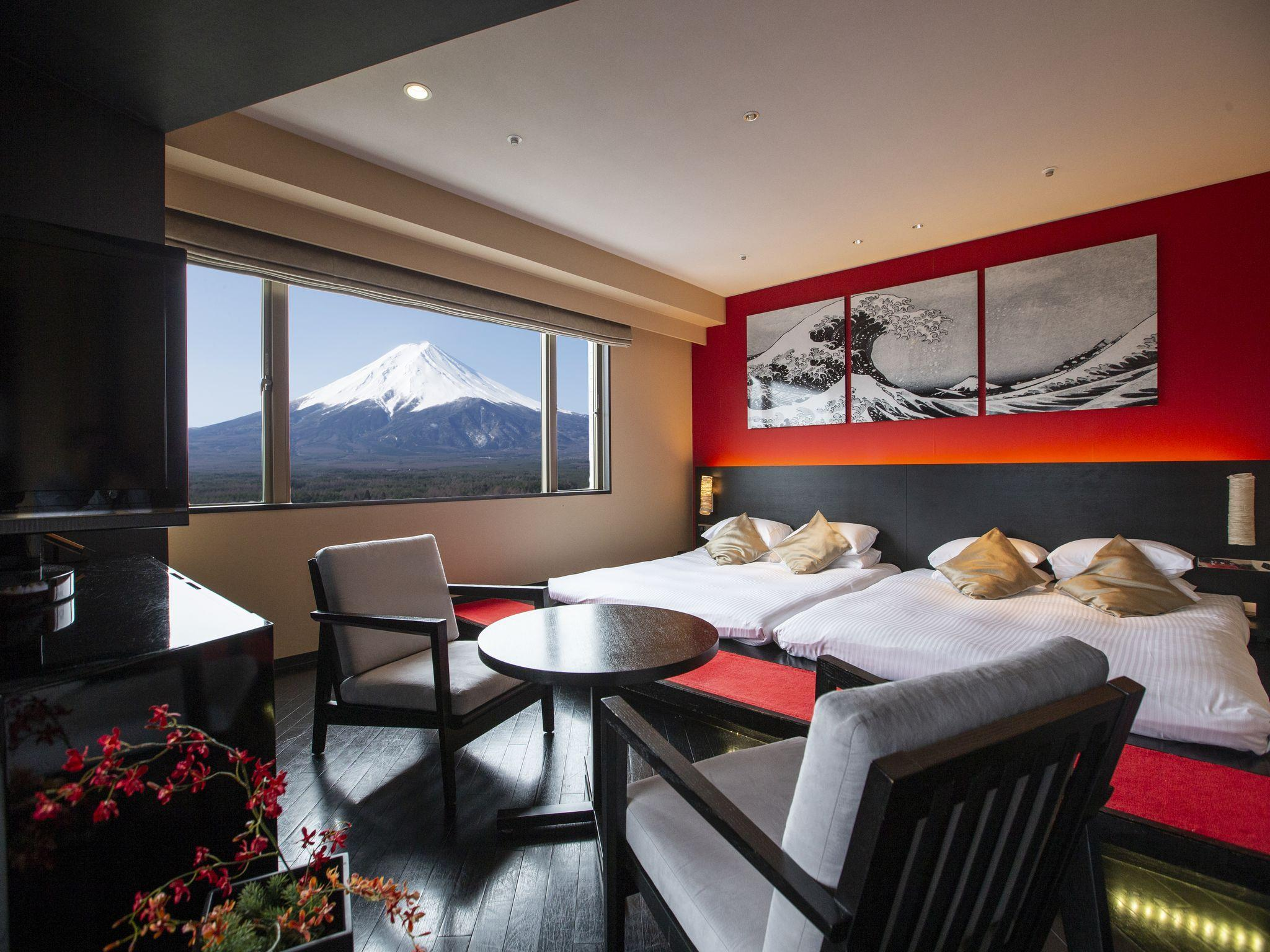 Luxury Mount Fuji View Suite with Tatami Area