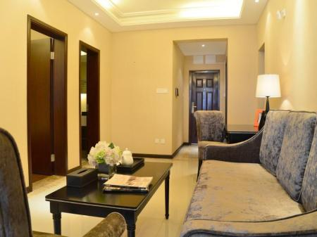 Deluxe 1-slaapkamer Suite met kingsize bed Chongqing Tujia Sweetome Serviced Apartment Xiexin Gongguan