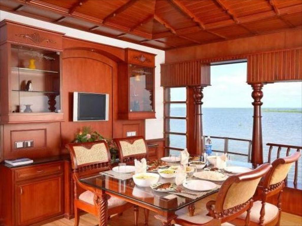 Interior view Sreekrishna Houseboat