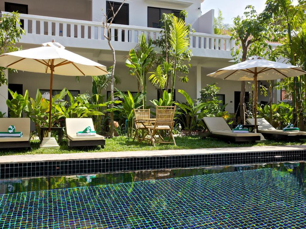 Notranjost Damnak Rusey Hotel (Bamboo Angkor Boutique)