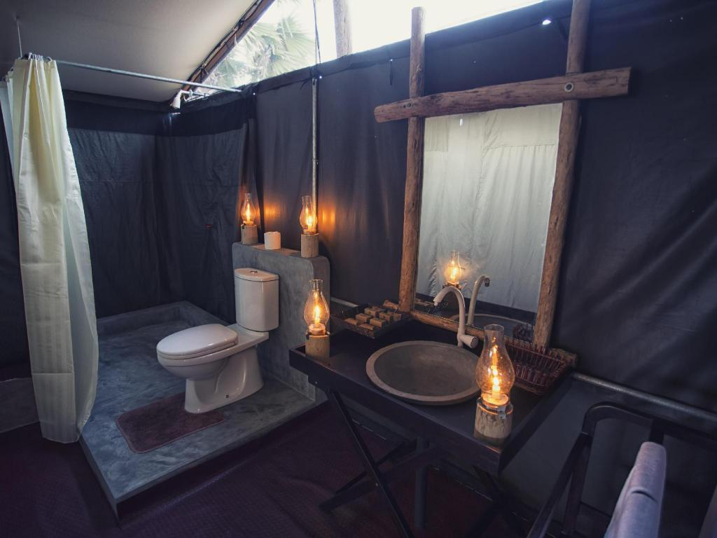 Bathroom The Beach Camp Yala