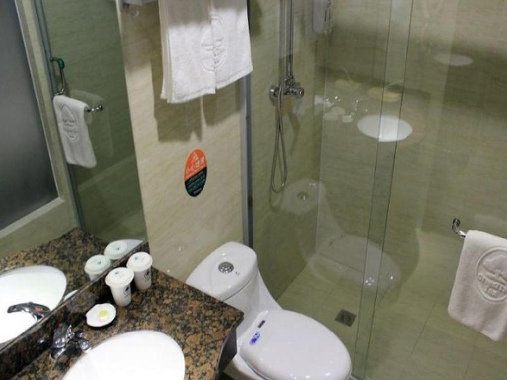 Bathroom Greentree Inn Jiangyin Zhouzhuang Shiji Avenue Business Hotel