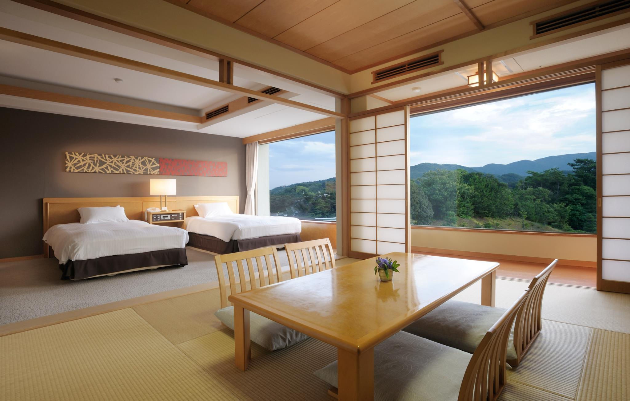 客房(双床)-带榻榻米|禁烟 (Twin Room with Tatami Area - Non-Smoking)