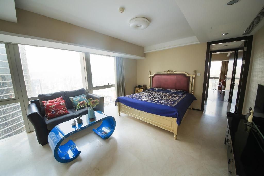 Suite With 2 Queen Beds City View - Guestroom Qingdao Lejiaxuan Boutique Apartment Olympic Sailing Center