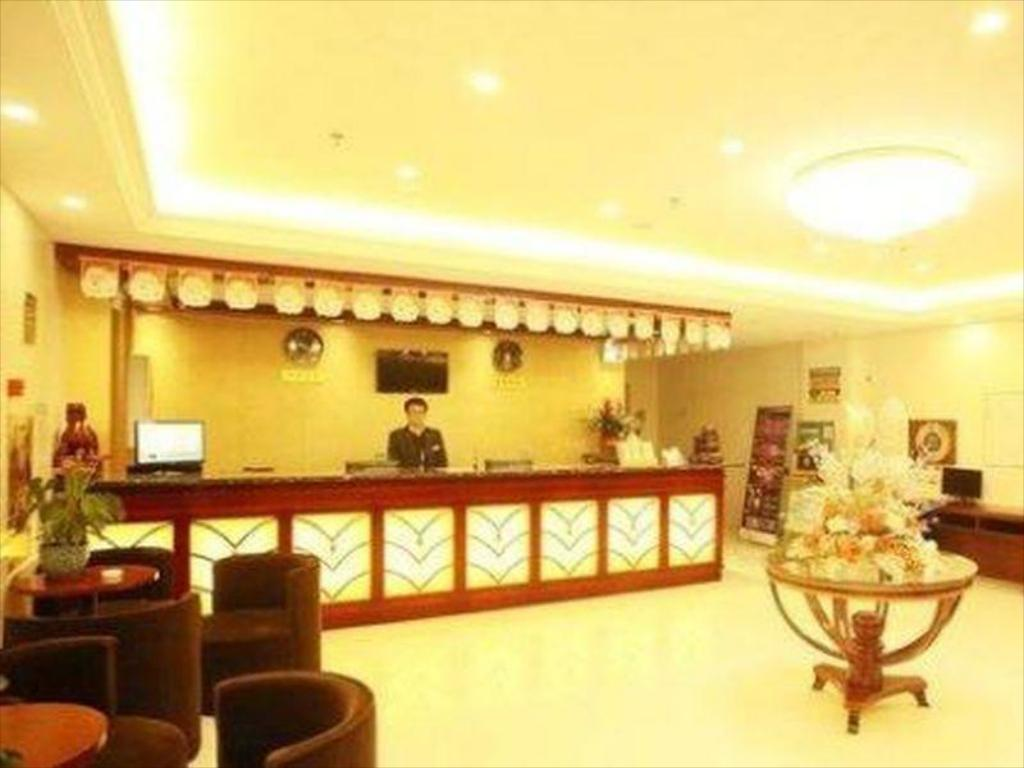 Recepcija Greentree Inn Yangzhou South Yunhe Road Yangzhou Bridge Express Hotel