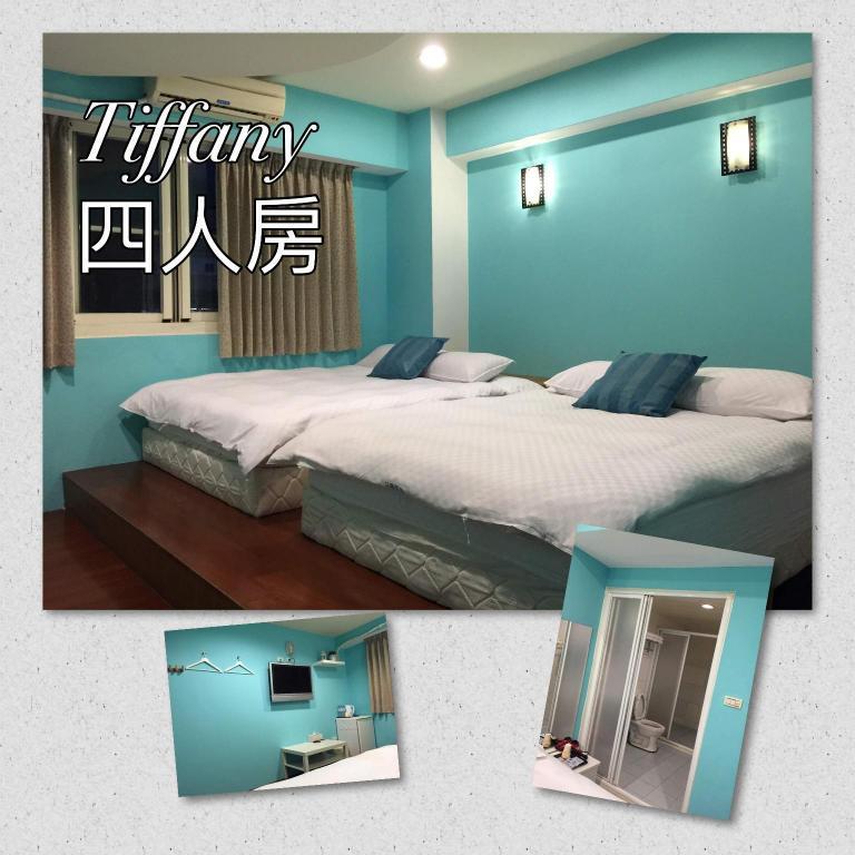Tiffany Blue Quad Room