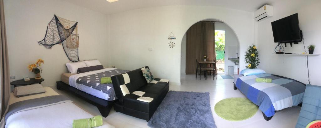 36m² Studio-Bungalow, 1 eigene(s) Badezimmer in Lonely Beach (Beach Jungle Superior Bungalow)