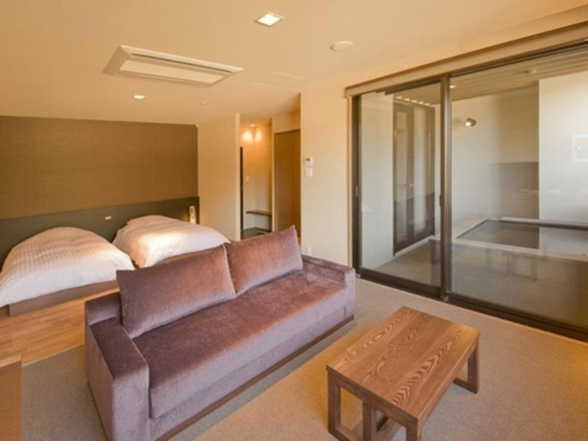 【特惠推廣】客房(兩床) - 有私人露天浴池/禁煙 (Twin Room with Private Open-Air Bath - Non-Smoking, Special Offer)