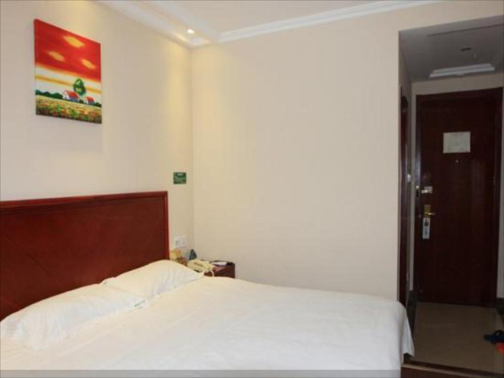 Business King Room- Domestic residents only - Bed Greentree Inn Beijing Fangshan Liangxiang Suzhuang Express Hotel