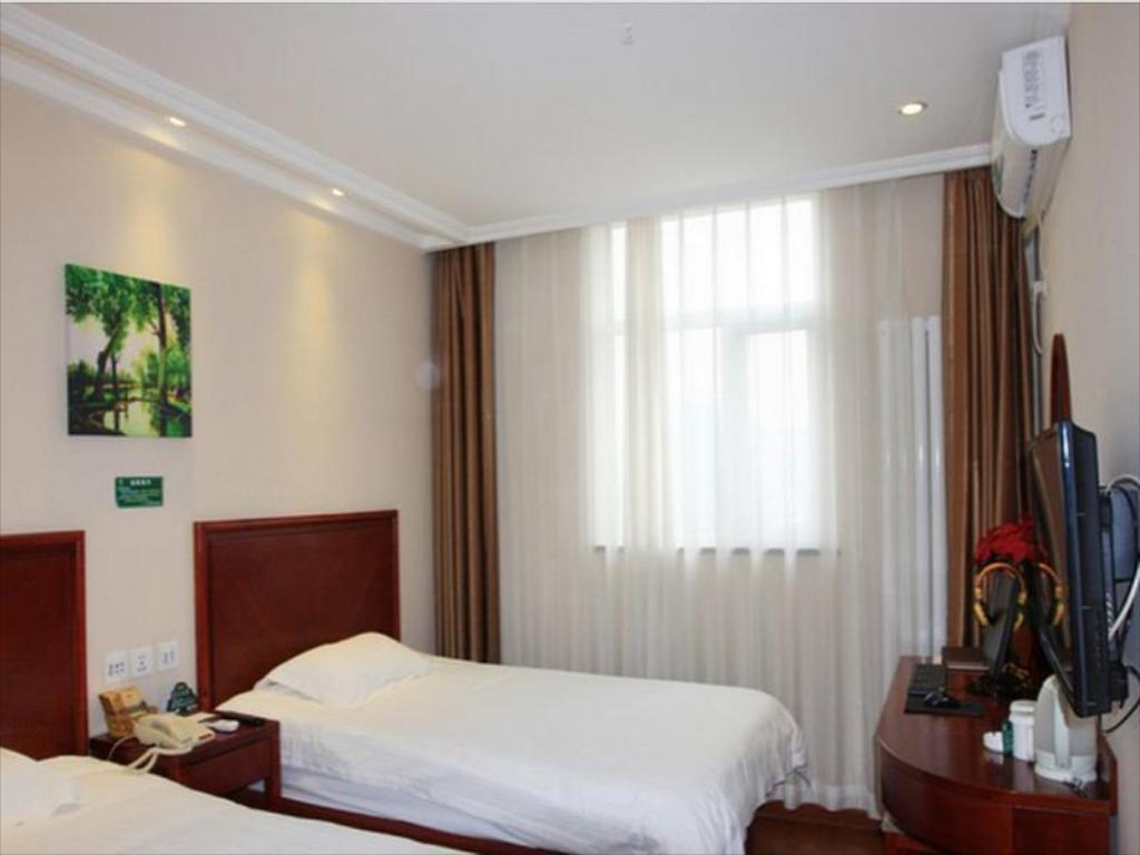 Business Twin Room - Domestic residents only - Guestroom Greentree Inn Beijing Fangshan Liangxiang Suzhuang Express Hotel