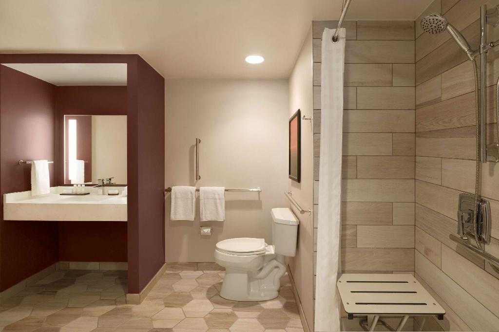 2 Double 1Bedroom Suite Mobility Accessible Roll In Shower Embassy Suites by Hilton Phoenix Downtown